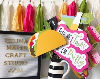 Fiesta Photo Booth Props | Fiesta Bachelorette | Fiesta Birthday | Fiesta Decor | Taco Party | Cactus Party | Fiesta Bridal Shower | Fiesta