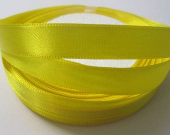 5 m 12mm yellow satin ribbon
