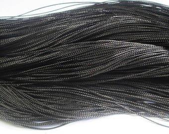 10 m black braided metal wire 0.8 mm