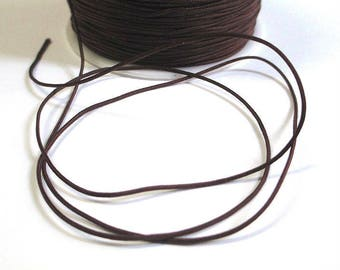 5 m thread dark brown nylon 1 mm