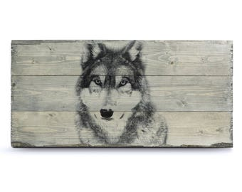 Photo on Wood - Any Size   Wolf Decor   Pallet Wall Art   Picture on Wood   Pallet Sign   Pallet Art   Rustic Home Decor   Wolf Gifts