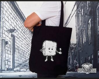 """Tote bag """"mischief"""" fair trade & organic"""