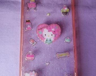 Hello Kitty resin phone case for Samsung S6