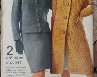 Vintage French Fashion Magazine / 1966 Fashion Magazine / Vintage Fashion / French Fashion / Retro Magazine / 1966 Magazine / Mid Century