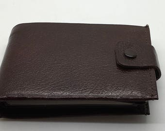 Brown Leather Wallet Ferree Made In Canada Bifold ID License Business Cards Credit Card Gift For Him Valentine's Gift