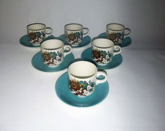 Barratts of Staffordshire Coffee/ Tea cups and saucer 5 available
