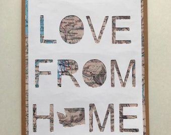 Love From Home Washington State Greeting Card