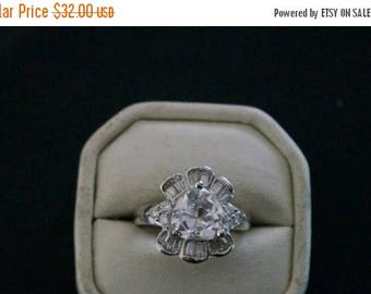 ON SALE Divine CZ Silver Ring