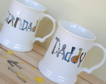 DIY Gifts for Dads - Personalised Tools Tankard