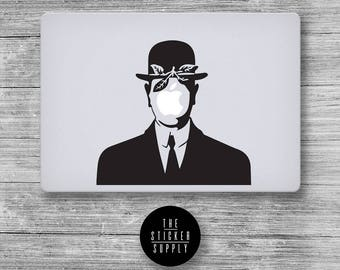 The Son of Man Decal - Magritte - Macbook Vinyl Sticker Decal