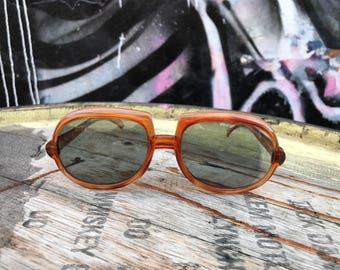 1960s Cool Ray Polaroid Brown Tear Drop Big Eye Sunglasses