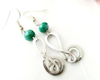 Key Earrings Violin Music aluminum Wire Wrapping for woman gift Bijoux