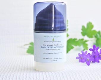 Natural Anti Aging Face Moisturizer Cream with DMAE for Normal to Dry Skin | Vegan Organic Moisturizer for Men & Women | Paraben Free.