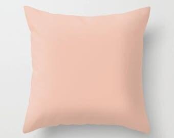 Flamingo Feather Pink Pillow Cover Behr Color Home Apartment Dorm Room Decor 14x14 16x16, 18x18, 20x20 26x26 Square