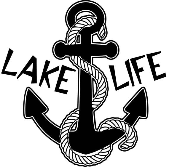Lake Life Anchor With Rope Window Wall Decal Home Cottage