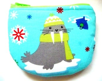 New! coin purse made from Christmas fabric