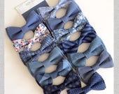 Dusty blue bow ties-steel blue neckties- light blue bowtie-Daddy and son- ring bearer bowties-Groomsmen bowtie-dog bowtie-mismatch blue tie
