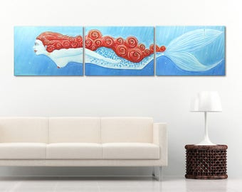 Mermaid - oil painting on canvas
