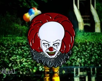 """IT Pennywise """"You'll Float Too"""" Enamel Lapel Pin By VOIDEaD"""