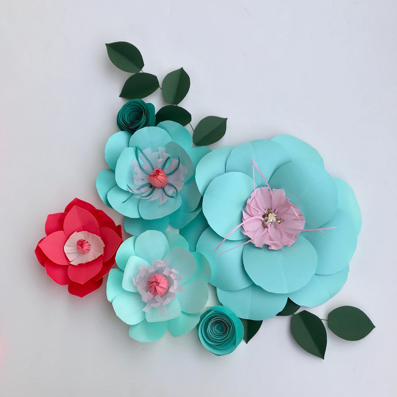 100 paper loop flowers gray gold u0026 cream paper flower s