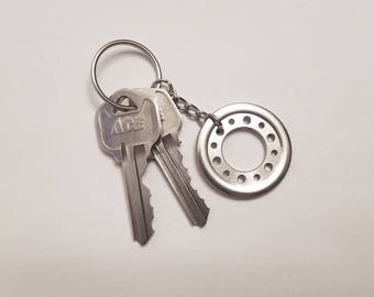 Hard Drive Platter Clamp/Spacer Keychain