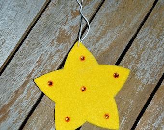Star beaded felt
