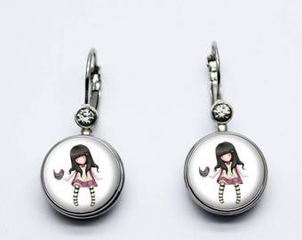 Doll gorjuss bird earrings