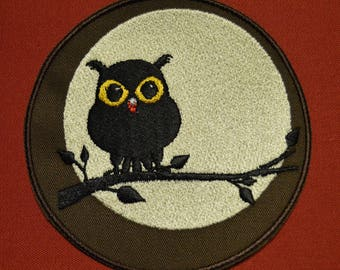 OWL embroidered patch