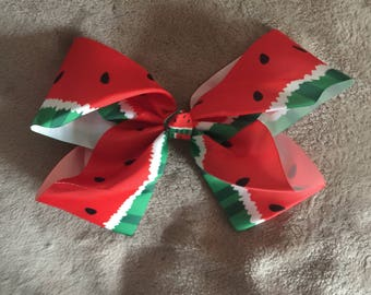 Large Watermelon Knot Bow Clip