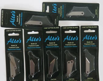 Lot of 7 Packages Alto's Mat Cutter Blades Model 30 for Ovals