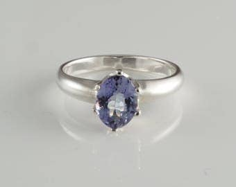 Purple Tanzanite Sterling Silver Ring