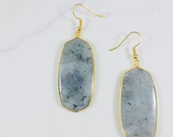 Labradorite earrings // Fast and free shipping