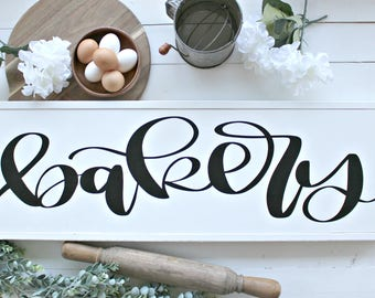Bakery Sign,Farmhouse Signs,Farmhouse Decor,Wood Signs,Home Decor,Fixer upper decor, Rustic Signs, Farmhouse Style, Wall Hangings,Shiplap