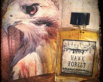 HAWK FOREST-(Patchouli, Tobacco, Amyris, Dragons Blood, Sandalwood, Cedar, Oakmoss, Eucalyptus, Clary Sage, Coriander, Amber, Musk) Oil