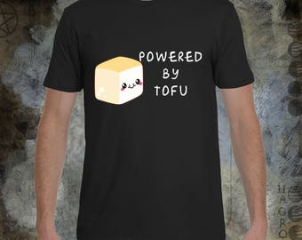 Powered By Tofu - Men's Crew Neck T-Shirt