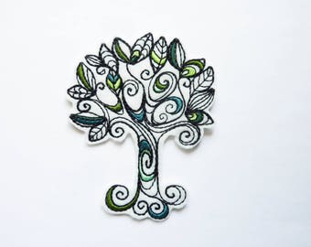 Tree shield patch embroidered patch