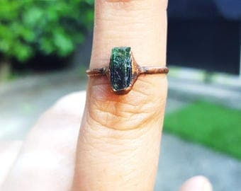 Natural Emerald copper ring emerald