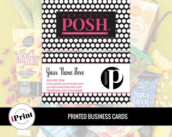 Perfectly Posh Business Card • Perfectly Posh Marketing Materials • Perfectly Posh Consultant Tools • PP-BC003