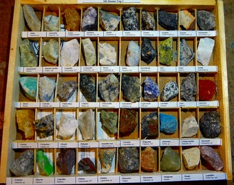 Rocks Collection with Precious Stones 100 Rocks and Minerals 1 1/4 inch 3 cms