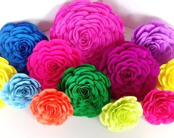 10 giant paper flowers wall backdrop large decor moana Tropical hawaiian Luau Aloha latino Fiesta wedding Mexican nursery baby shower  party