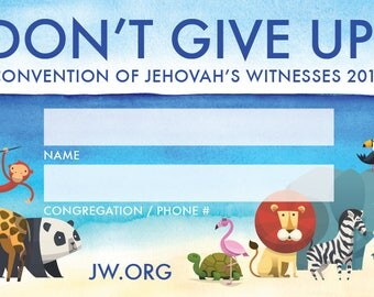 JW 2017 Convention - Kid's Name Badges (3 Languages)