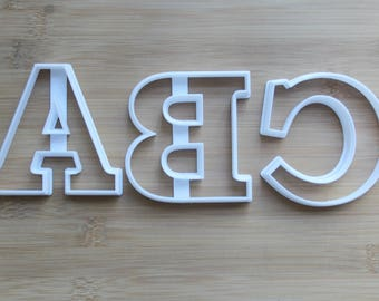 Full Set Alphabet 26 Letter 3D Printed Cookie Cutters (A-Z)