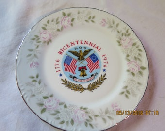 Sheffield China Bicentennial Plate Classic 501 1776-1976