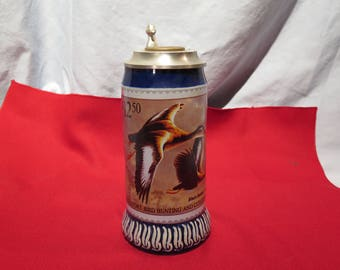 1990-1991 The Federal Duck Stamp Stein Black-Bellied Whistling Duck