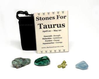 Zodiac Healing Stones Pouch - Taurus - Basic