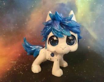 Lps dog custom blue space