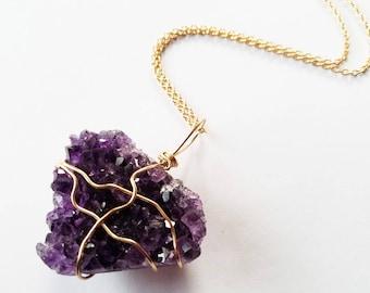Amethyst crystal, amethyst pendant, amethyst jewelry, amethyst necklace, amethyst, crystal pendant, crystal jewelry, gemstone necklace