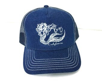 Mermaid Eve Denim Pro Style Mesh Back Trucker Hat