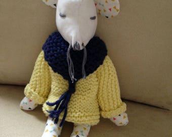 Mouse, plush fabric