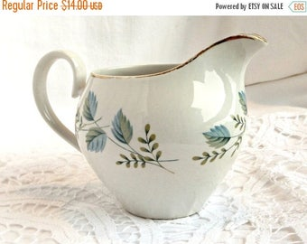 CLEARANCE SALE Capistrano Ridgway Creamer, White Mist, Made in Staffordshire England, 22kt Gold Trim, Vintage Creamer, Vintage Kitchen